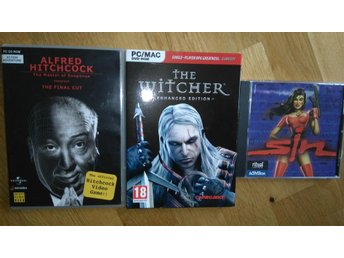 THE WITCHER + SIN + HITCHCOCK 3st PC-spel