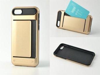 Mobilskal med korthållare till iPhone 7 PLUS Guld - Helsingborg - Mobilskal med korthållare till iPhone 7 PLUS Guld - Helsingborg