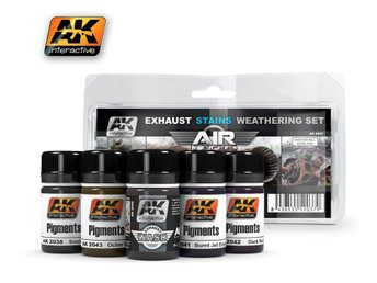 AK Interactive Exhaust Stains Weathering Set