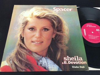 "SHEILA AND B. DEVOTION spacer 12"" maxisingle Fra. CARRERE 8073"
