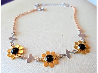 9 k gult- vitt guldfyllt armband - Märsta - 9 k gult- vitt guldfyllt armband - Märsta