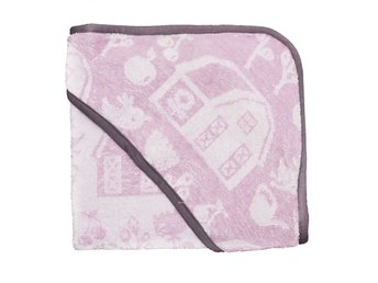Sebra - Hooded towel - Rose - Farm (1010201)