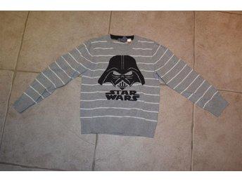 Långärmad grå, randig tröja Stars Wars Darth Vader från HM stl 122/128 - Katrineholm - Långärmad grå, randig tröja Stars Wars Darth Vader från HM stl 122/128 - Katrineholm