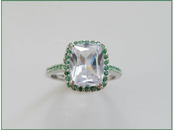 RING m TOPAZ/CHROME DIOPSIDE I STERLING SILVER...