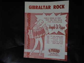 Noter för dragspel - Gibraltar rock (Angelo di Pippo)