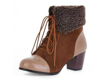 Dam Boots Fashion Daily Dating Leisure Footwear Brown 42