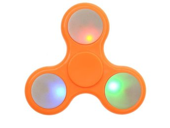 Fidget spinner plast Orange  LIGHT UP