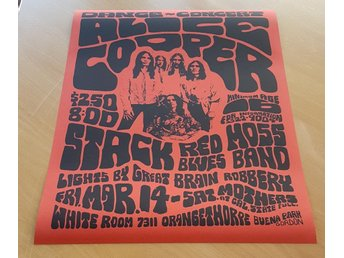 ALICE COOPER LOS ANGELES 1969 1978 POSTER