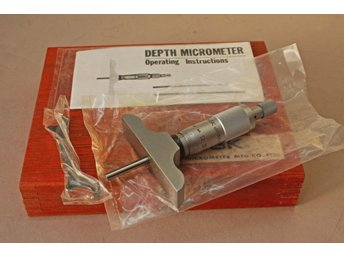 Djupmikrometer  NSK Japan. 0 - 25 mm .Nytt.