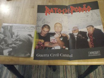Ratos De Porao - Guerra Civil Canibal EP (Yellow) EX