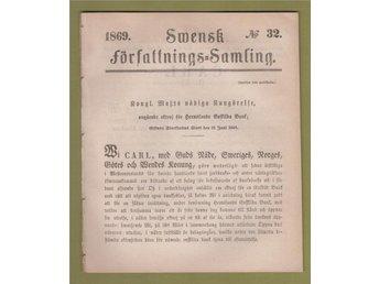 SFS 1869-32. Oktroj, Härnösand, bank - Helsingborg - SFS 1869-32. Oktroj, Härnösand, bank - Helsingborg