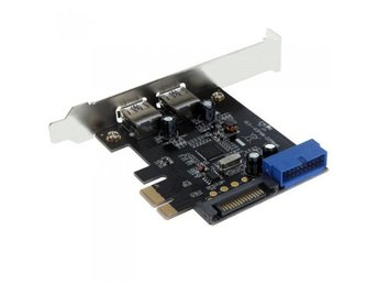 PCI-E 15-Pin SATA USB 3.0 2-Portar