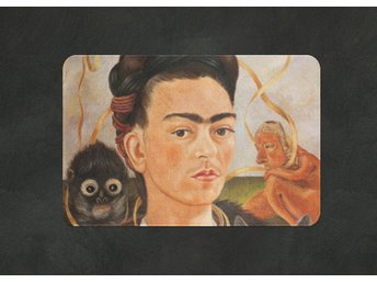 Frida Kahlo Self Portrait With Small Monkey Matta Stor Dörrmatta 73x48cm