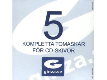 CD-ask komplett med insats  5-pack