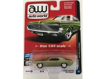 1969 Mercury Cougar 1/64 Auto World olivgrön