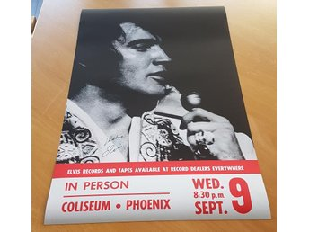 ELVIS IN PERSON PHOENIX COLISEUM 1970 POSTER
