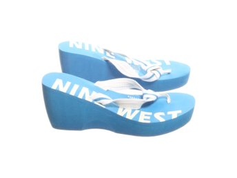 Nine West, Flipflop, Strl: 38,5, Blå/Vit
