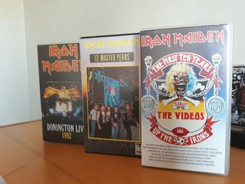 Iron Maiden VHS 12 wasted years, Donington, First ten years