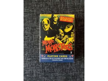 "Kortlek. ""Movie Monsters."" Nyskick"