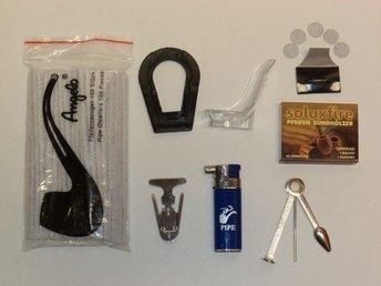 Tillbehör till pipa: Tändare, tändstickor, nät, verktyg, fräs, ställ, rensare - Nyköping - Tillbehör till pipa: Tändare, tändstickor, nät, verktyg, fräs, ställ, rensare - Nyköping