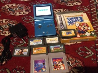 Game Boy Advance SP 101 AGS Backlit + 8 games