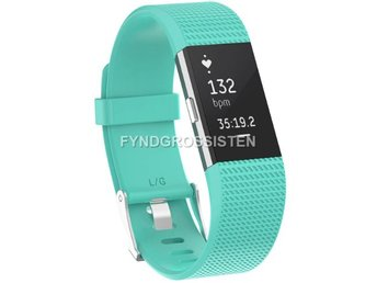 Armband Fitbit Charge 2 Large Teal Fri Frakt Ny