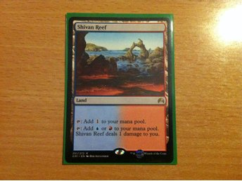 Magic the Gathering, MtG kort, Magic Origins - Shivan Reef NM