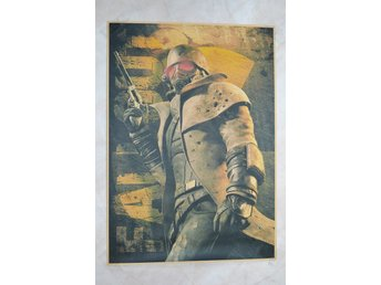 Soldat fr. The Wasteland, m. Logo Gul Bakgrund Fallout Poster 30*42cm Ny
