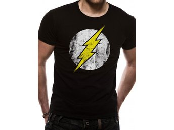 THE FLASH - DISTRESSED LOGO (UNISEX)   T-Shirt - Large