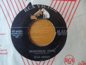 Elvis Presley: Heartbreak hotel/ I was the one. Original!  RCA Victor, USA 1956