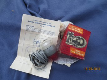 Nos Lucas parking lamp BMC Rolls Bentley Jaguar Rover  Triumph Volvo SAAB VW osv