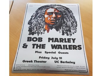 BOB MARLEY GREEK THEATRE BERKLEY 1978 POSTER