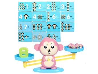 Monkey Nummer Match Math Balansering Skala Early Learning Educational Toys Gifts