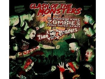 Thee Flanders/Bloodsucking Zombies From Outer Space - Clash - LP NY - FRI FRAKT