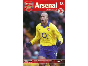 Program: Arsenal - Middlesbrough