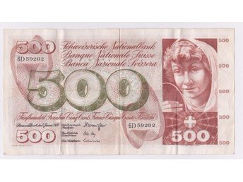 SWITZERLAND - SCHWEIZERISCHE NATIONALBANK 1970 ISSUE 500 FRANCS P51