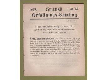 SFS 1869-52. Laborations-Taxa. - Helsingborg - SFS 1869-52. Laborations-Taxa. - Helsingborg