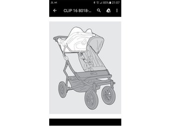 MOUNTAIN BUGGY clip 16 Babyskydd adapter DUO / DUET Maxi-Cosi Cabriofix / Pebble