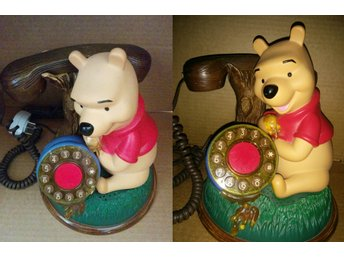 Disney Telemania Talking Winnie The Pooh Desk Corded Telephone
