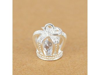 HELT NYA!!Silver Plated Crown Pendant Accessories Charm Jewelry for Chain Neckla