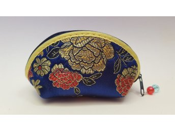 oriental style silk coin purse (DEEP BLUE)