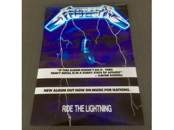 METALLICA RIDE THE LIGHTNING 1984 PHOTO POSTER
