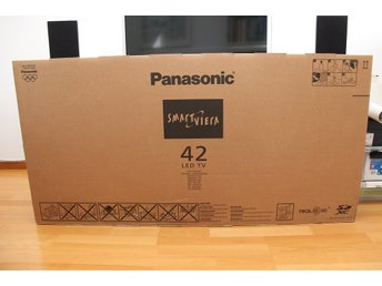 Tv Ny Panasonic 42 Tum 3D Smart Led-TV TX-L42ET60Y. Ny i Obruten Kartong.