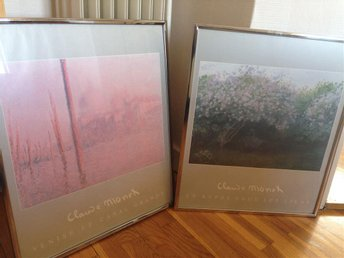 2 st inramade Claude Monet posters/tryck