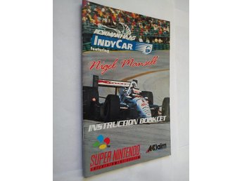 SNES - Manualer: Nigel Mansell Indy Car (Endast manual)
