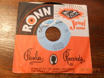 "TED TAYLOR - Strange things happening/Little Boy, 7"" Jewel, USA 1965"