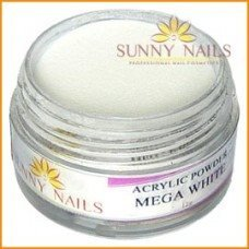 4x 12 g Akryl Pulver Sunny Nails Mega White, Clear, Soft pink, Cover peach