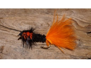 Flugor 5st. Montana Marabou Orange Tail Streamer Fri Frakt Krokstorlek 8