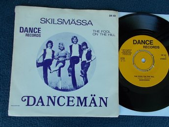 "DANCEMÄN - Skilsmässa/The Fool on the hill, 7"" Dance Records 1973 Beatles cover"