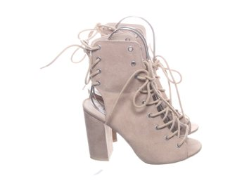 NLY Shoes, Klackskor, Strl: 37, Beige, Mockaimitation